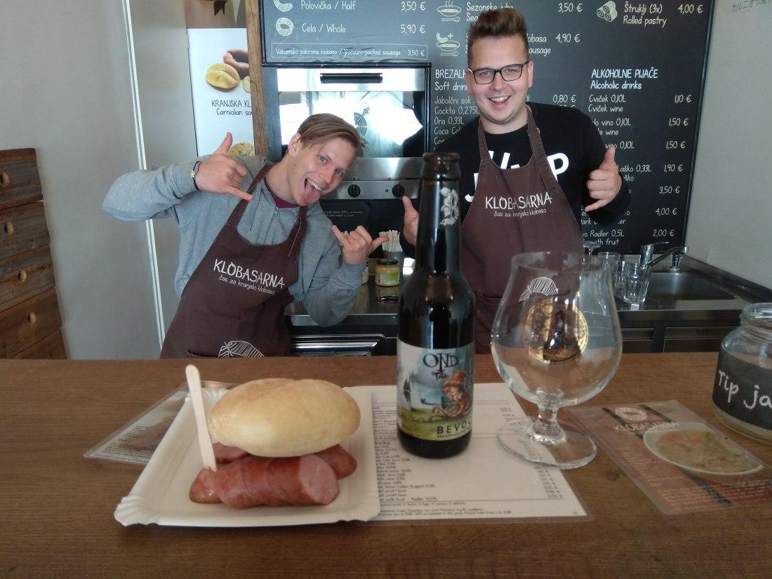 Carniolan sausage. OND smoked porter & 2 crazy guys!.jpg